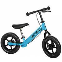 Беговел PROFI KIDS детский 12 д. M 3440B-1 (1шт) колеса EVA, пласт.обод, тормоз. эксцентрики , голубой