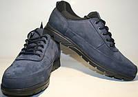 Туфли кроссовки мужские синие нубуковые Cabani