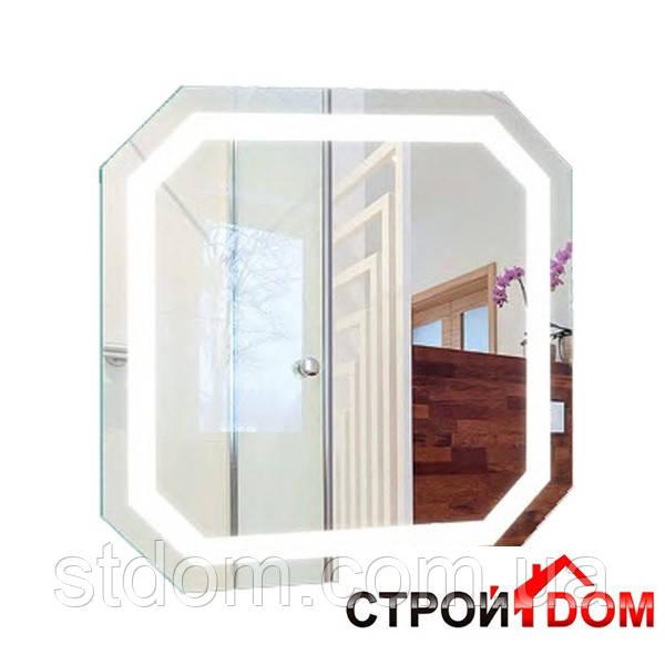 Восьмиугольное зеркало с LED подсветкой Liberta Donato 800x800