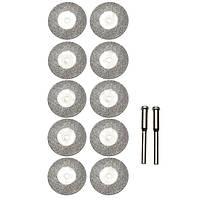 10шт 25мм алмазный шлифовальный круг Дремель Аксессуары для ротационных Набор