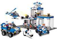 Конструктор большой - Полиция (LEGO-Sluban) - 582 детали. Тематический конструктор