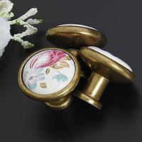 Цветок тюльпан керамический шкаф шкаф шкаф ящик ручки тянет