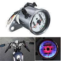 Мотоцикл двойного одометра датчик спидометра LED подсветка световой сигнал