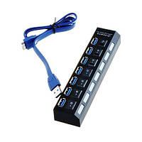 7 порта USB3.0 внешний хаб с отдельным выключателем + USB A к B кабель