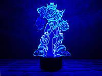 """Светильник 3Д на подарок для мальчика """"Трансформер"""" 3DTOYSLAMP"""