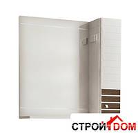 Зеркало с подсветкой и правосторонним шкафчиком Аква Родос Империал 85 фасад венге