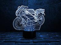 "Детский ночник ""Мотоцикл 2"" 3DTOYSLAMP, фото 1"