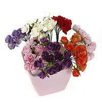 144pcs свадьбы скрапбукинга поделки ручной работы мини бумажные цветы