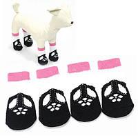 Носки собаки кошки черный антипромах образца обуви теплые хлопчатобумажные носки домашнего животного