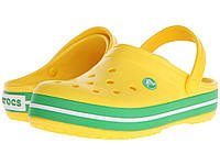 Сабо (Оригинал) Crocs Crocband Lemon/Greass Green
