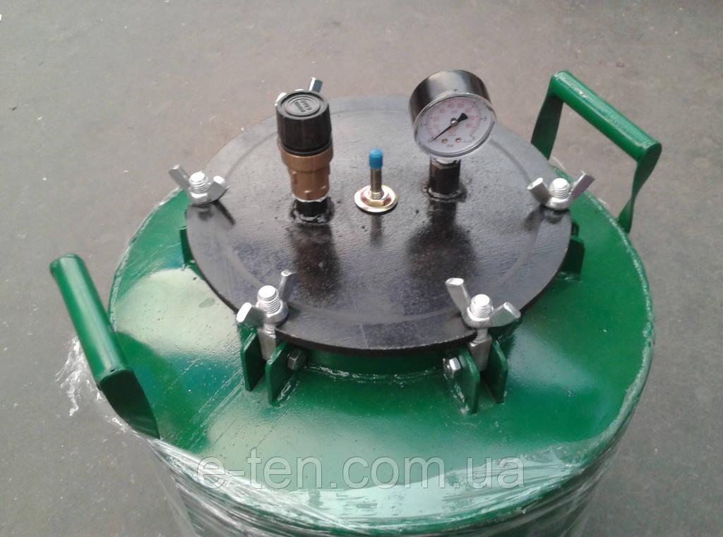 Автоклав АБ-40 (с креплением на БОЛТАХ) для домашнего консервирования (зелёный)
