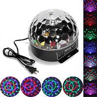 6 цвет диско DJ этап освещение цифровой LED RGB кристалл шар света