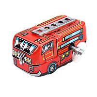 Винтаж начальник пожарной охраны пожарный автомобиль грузовик заводной ветра до олова игрушки