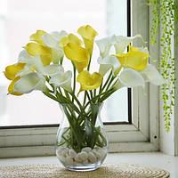10шт искусственный латекс каллы лилии свадебные цветы свадебный букет