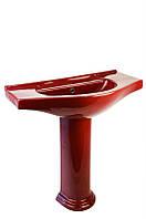 Раковина с пьедесталом Monaco VU7M (темно-красная)