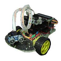 Ультразвуковой избегание препятствий в пределах смарт-автомобильный комплект с ЖК-дисплеем для Arduino
