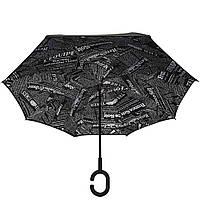 Зонт обратного сложения Vip-brella чёрный журнал