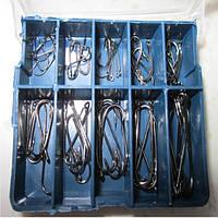 ZANLURE 70pcs 10 Размеры Carbon Silver Приманки рыболовные крючки с коробкой