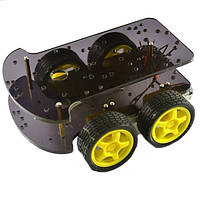 Привод на 4 колеса смарт шасси автомобиля 4 колеса двойной уровень K-002 для Arduino