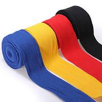 2шт 2.5 м хлопок боксерские бинты повязки пробивая рук обертывания