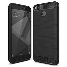Протиударний чохол Carbon TPU для Xiaomi Redmi 4X чорний