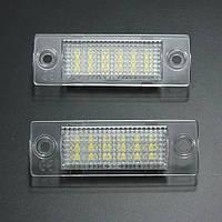 2x LED номерной знак света для Фольксваген Caddy Т5 гольф Пассат