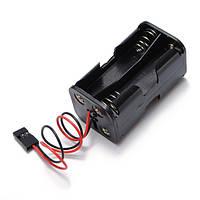 Универсальный кейс/чехол для 4 батарей формата АА с разъемом для подключения внешних устройств 6в выходное напряжение