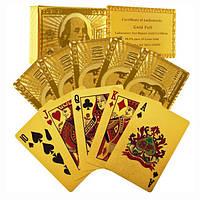 Сертифицированный чистого 24-каратного сусального золота гальваническим покер карты идеальный подарок