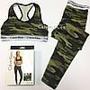 Леггинсы + топ Calvin Klein камуфляж зеленый, фото 2