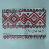 Обложка на Паспорт / Украина Вышиванка / Красная / Экокожа