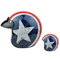 Гривна американский капитан половина шлем счастливая звезда полоса флага для Harley