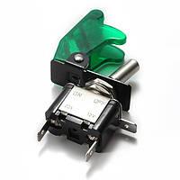5x зеленый покров автомобиля LED SPST переключатель управления тумблер 12v 20а