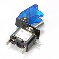 5x синий покрытие автомобиля LED SPST переключатель управления тумблер 12v 20а