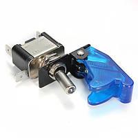 10x синий покрытие автомобиля LED SPST переключатель управления тумблер 12v 20а