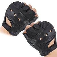 Средних пальцев кожаные перчатки мотоцикла вентилируемый воловьей кожи многоцелевого использования