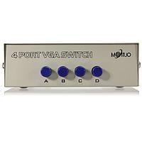 4 шт в 1 монитор VGA переключатель обмен на ЖК-мониторе ПК TV
