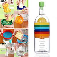 Honana Бутылка формы 8-в-1 Многофункциональная соковыжималка Grinder Воронка Бутылка Кухня Кулинария Аксессуары