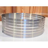 304 нержавеющая сталь круг мусс кольцо 6-8 дюймовый многослойный торт плесень