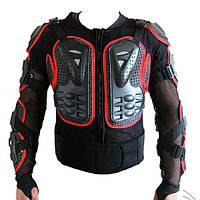 Мотоцикл автогонок назад куртка броневая защита красный размер м