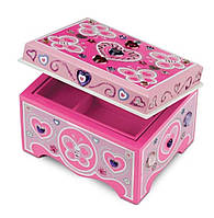 Детский набор для творчества Деревянная шкатулка для ювелирных украшений / Jewelry Box ТМ Melissa & Doug MD8861