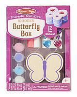 Детский набор для творчества Шкатулка-Бабочка-оформительский набор / Butterfly Chest ТМ Melissa & Doug MD8853