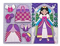 "Рамка-вкладыш Формовой пазл ""Принцессы"" / Princess Dress-Up Chunky Puzzle ТМ Melissa & Doug MD19021"