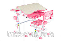 Растущая парта для школьника для дома FunDesk Lavoro Pink