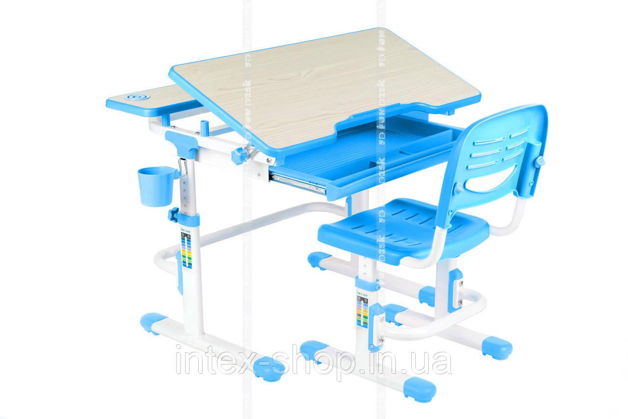 Парта і стільчик для школяра для будинку FunDesk Lavoro Blue