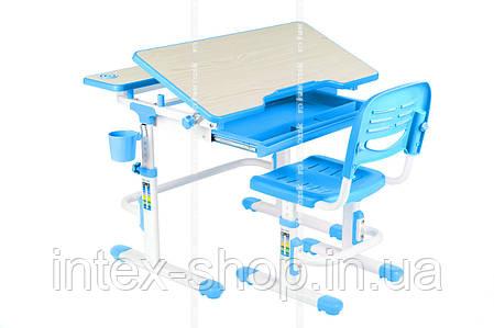 Парта і стільчик для школяра для будинку FunDesk Lavoro Blue, фото 2