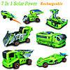7 в 1 перезаряжаемые солнечной энергии автомобильный комплект обучающие игрушки
