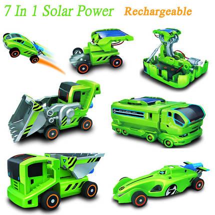7 в 1 перезаряжаемые солнечной энергии автомобильный комплект обучающие игрушки, фото 2