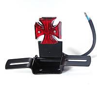 Мальтийский крест Сид хвост свет лампы с пластиной для Harley измельчитель поплавок