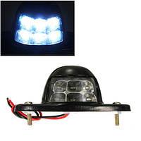 6 LEDы номерного знака лицензии свет грузовик с прицепом лодка Лампа рефлектор