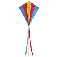 Напольный многоцветный треугольник ромб летающий змей с 30м линия